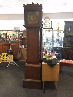 Georgian 30 Hour Long Case Grandfather Clock In Oak By Everard Billington C1740