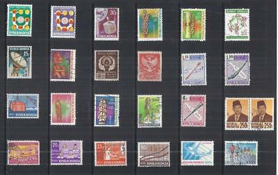 y2958 Indonesia/ A Small Collection  Early & Modern Lhm & Used