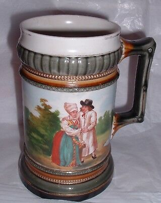 RARE Antique hand painted Rorstrand Sweden Ironstone China Wingaker Beer Stein