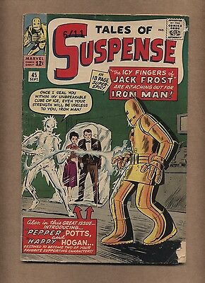 Tales of Suspense 45 (Solid!) 1st app. Happy and Pepper; Kirby; Ditko (c#15470)