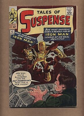 Tales of Suspense 42 (Solid!) 4th app. Iron Man; Kirby cover; 1963 (c#15463)