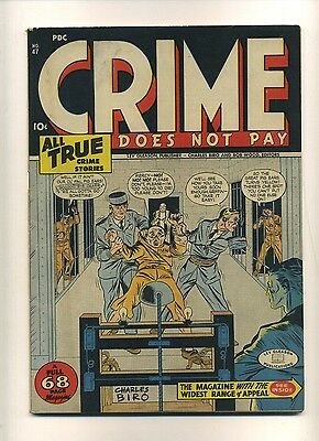 Crime Does Not Pay 47 (VG) 1946 Lev Gleason 68 pgs electric chair cover (c#09869