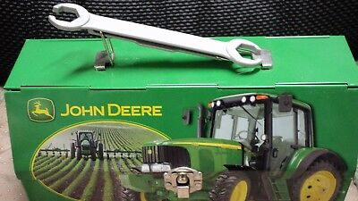 John Deere Decorative Lunch Box Fold Back Lid w/folding Wrench Handle Tractor