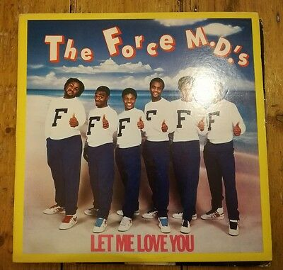 "The Force M.d's - Let Me Love You 12"" Tb841 Tommy Boy 1984 Vg+!"