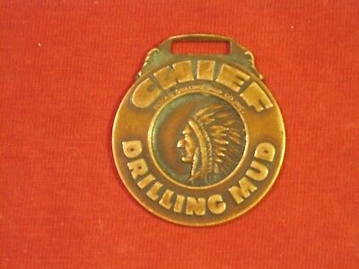 1950's INDIAN DRILLING MUD CO CHIEF DRILLING MUD WATCH FOB OK