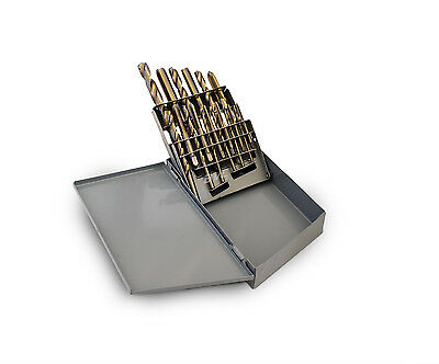 18 PC Professional UNF Tap and Drill Bits Set High Speed Steel HSS w/ Metal Case