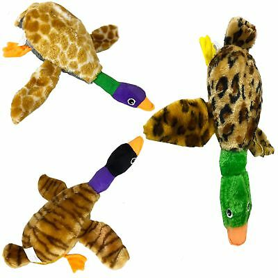 3x Doggy Goosely Squeaky Squeak Stuffed Duck Bird Pet Dog Toy
