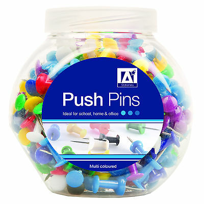 PUSH PIN Office Cork Board Map Notice Multi Colour Drawing Message Tack Tool