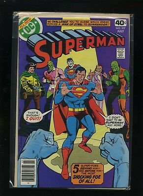 Superman #337 (July 1979, DC); Very Fine cond.; Bagged & Boarded