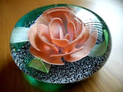"""Beautiful Caithness """"glamis Rose"""" Paperweight. Ltd. 19/100. Perfect"""