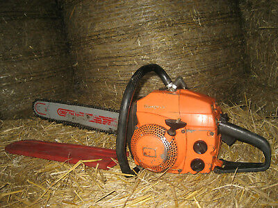 "husqvarna petrol 18"" chainsaw in excellent working condition recent service"