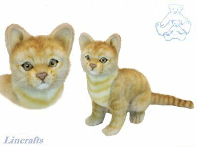 Hansa Sitting Ginger Cat 6575 Plush Soft Toy Sold by Lincrafts Established 1993