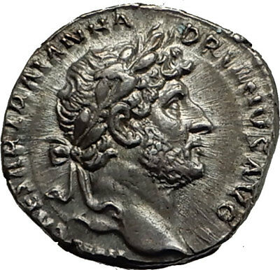 HADRIAN 119AD Rome Genuine Original Authentic Ancient Silver Roman Coin i65406