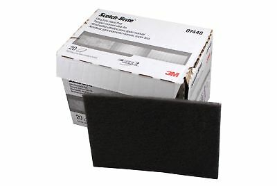 3M 07448 Scotch Brite Ultra Fine Hand Scuff Pads, Gray, 20 Pads (Full Box)