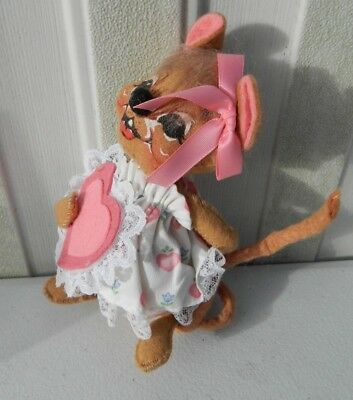 """Vintage Annalee Mouse Valentines Day Doll Hand Painted 6"""" LOOK Rare"""