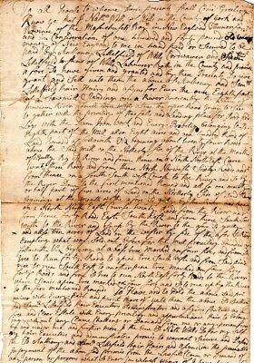 1742, Wells, Maine, Nathaniel Wells, sale of shares sawmill, iron works, signed