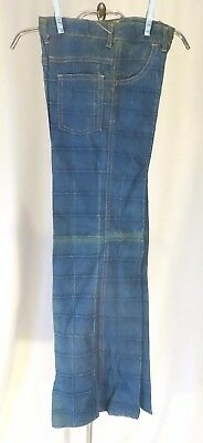 Vintage 70s Jeans Pants Bell Bottoms Girls sz 14 Dead Stock Patchwork Embroidery