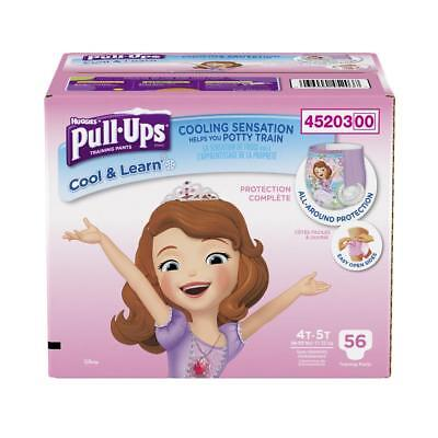Huggies Pull-Ups Cool & Learn Training Pants Girls 4T-5T NIB 56 Count Sophia
