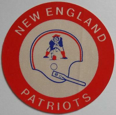 Very Rare Antique Vintage New England Patriots Silk Sticker Original Pats Logo