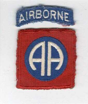 WW 2 82nd Airborne Division Patch & Tab Inv# X129