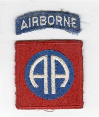 WW 2 82nd Airborne Division Patch & Tab Inv# X133