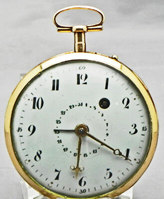 50mm, Solid 18Kt Yellow Gold, Verge Fusee With A Working Calendar, Circa 1770!!