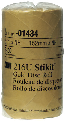 3M 01434 Stikit Gold 6' P400A Grit Disc Roll