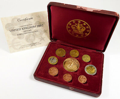 2002 United Kingdom Euro Coin Prototype Collection - Int'l Numismatic Agency