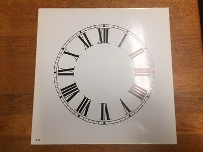 "Spare cream  paper clock dial 7""  Any brand .Roman numerals Gloss"