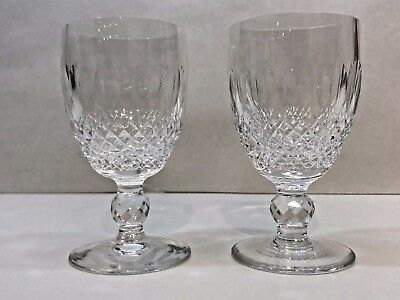 "Waterford Crystal Stemware Colleen Claret Wine 4 3/4"" Tall 6 Oz"