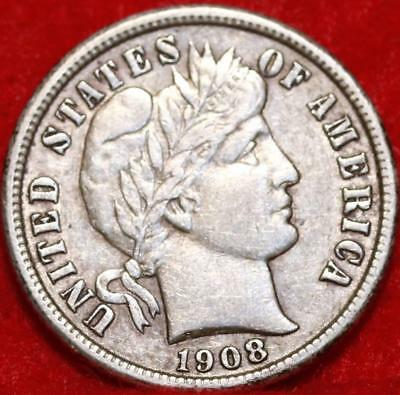 1908-S San Francisco Mint Silver Barber Dime Free Shipping
