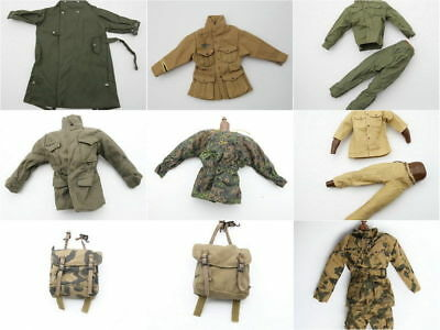 1/6 Scale Uniforms Coveralls Suit BackPack Bag of 9 Pcs Toys