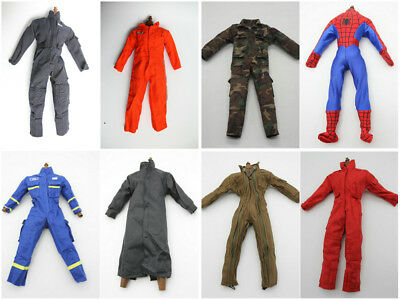 1/6 Scale Coveralls Uniforms Work Jacket Coat 12in Fit HT B005 Body Lots Of 8