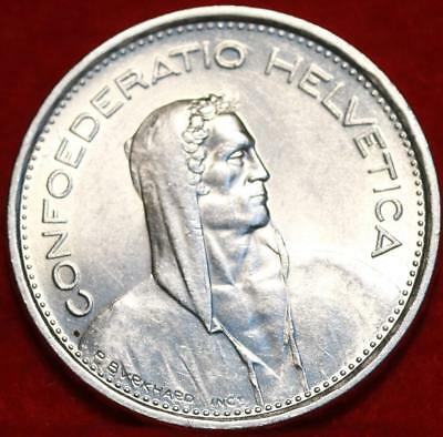 Uncirculated 1966-B Switzerland 5 Francs Silver Foreign Coin Free S/H