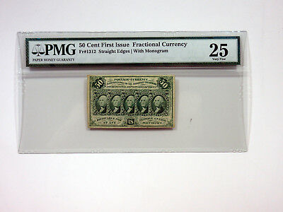 U.S. Fractional Curr. 1st Issue 25cts Fr.#1312 w/monogram PMG VF 25 Imperf
