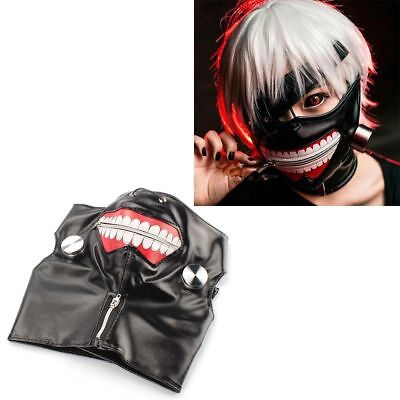 New Anime Tokyo Ghoul Cosplay Prop Zipper PU Adjustable Mask MA01 US Seller