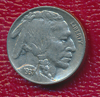 1937-D Buffalo Nickel **lustrous And Very Lightly Circulated** Free Shipping!
