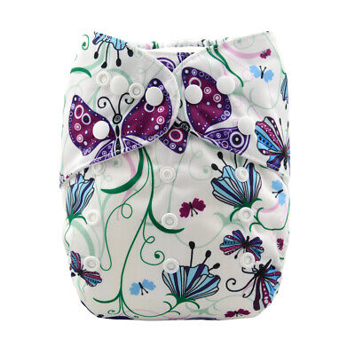 ALVA Baby Cloth Diaper One Size Girl Reusable Pocket Nappy + 1 Bamboo Insert