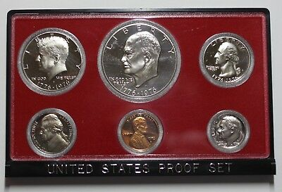 Usa United States Kms Proof Coinset 1976 Eisenhower Kennedy