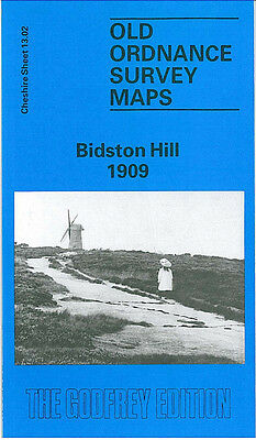 Old Ordnance Survey Map Bidston Hill 1909 Birkenhead Forest Road Eleanor Road