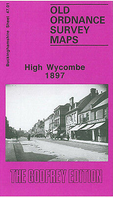 Old Ordnance Survey Map High Wycombe 1897 Green Street Daws Hill Oakridge Wood
