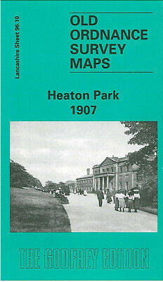 Old Ordnance Survey Map Heaton Park 1907 Manchester Rooden Lane Bury Old Road
