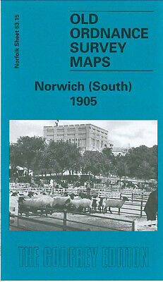 Old Ordnance Survey Map Norwich South 1905 Cecil Road Ber Street Peafield