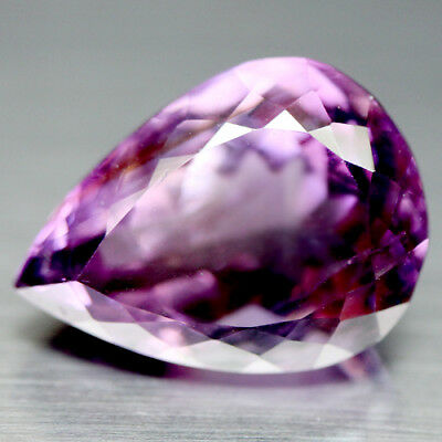 13.92 Ct Natural! Purple Clr Change To Pink Brazilian Amethyst Pear