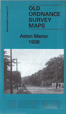 Old Ordnance Survey Map Aston Manor 1938 Birmingham Handsworth Lozells