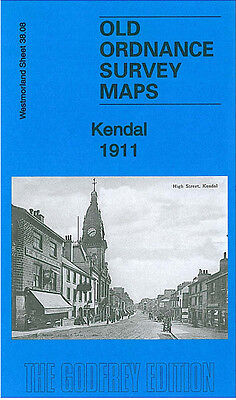 Old Ordnance Survey Map Kendal 1911 Sandes Avenue Romney Road Castle Street