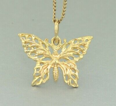 """Yellow Gold """"BUTTERFLY CHARM"""" Guaranteed Genuine & Solid 9k Gold"""