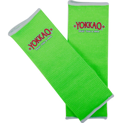 Yokkao Neon Green Ankle  Supports (pair) Muay Thai Protection Anklet