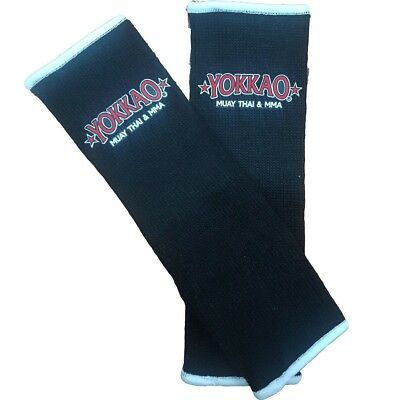 Yokkao Kids Black Ankle  Supports (pair) Muay Thai Protection Anklet