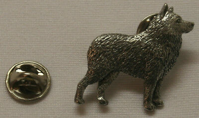 Schipperke Dog Fine PEWTER PIN Jewelry Art USA Made